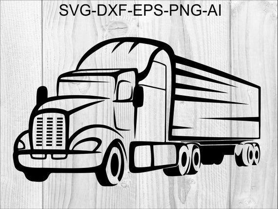 Semi Truck 4 Truck Front View 18 Wheeler 16 Wheeler 22 Wheeler Big Truck Silhouette Svg Gr Semi Trucks Big Trucks Truck Tattoo