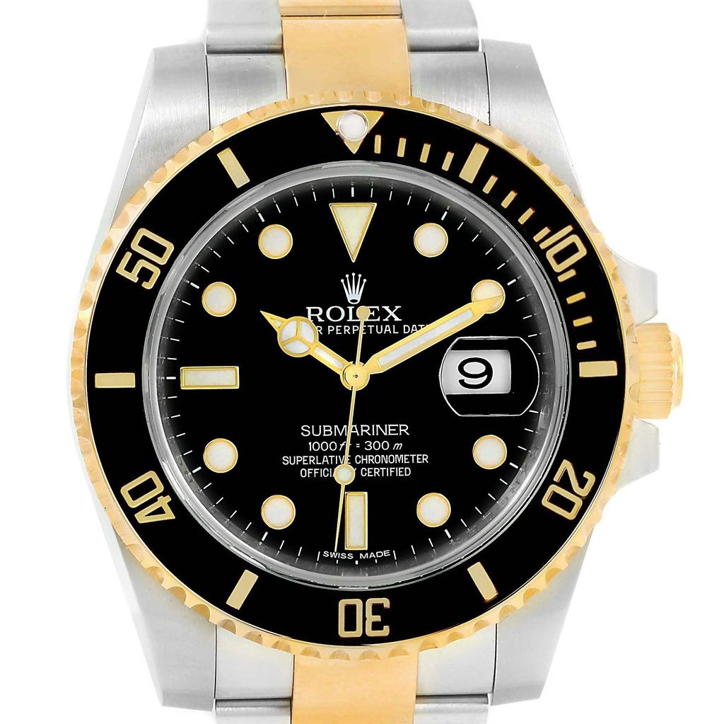 Rolex Submariner Steel Yellow Gold Automatic Watch Box