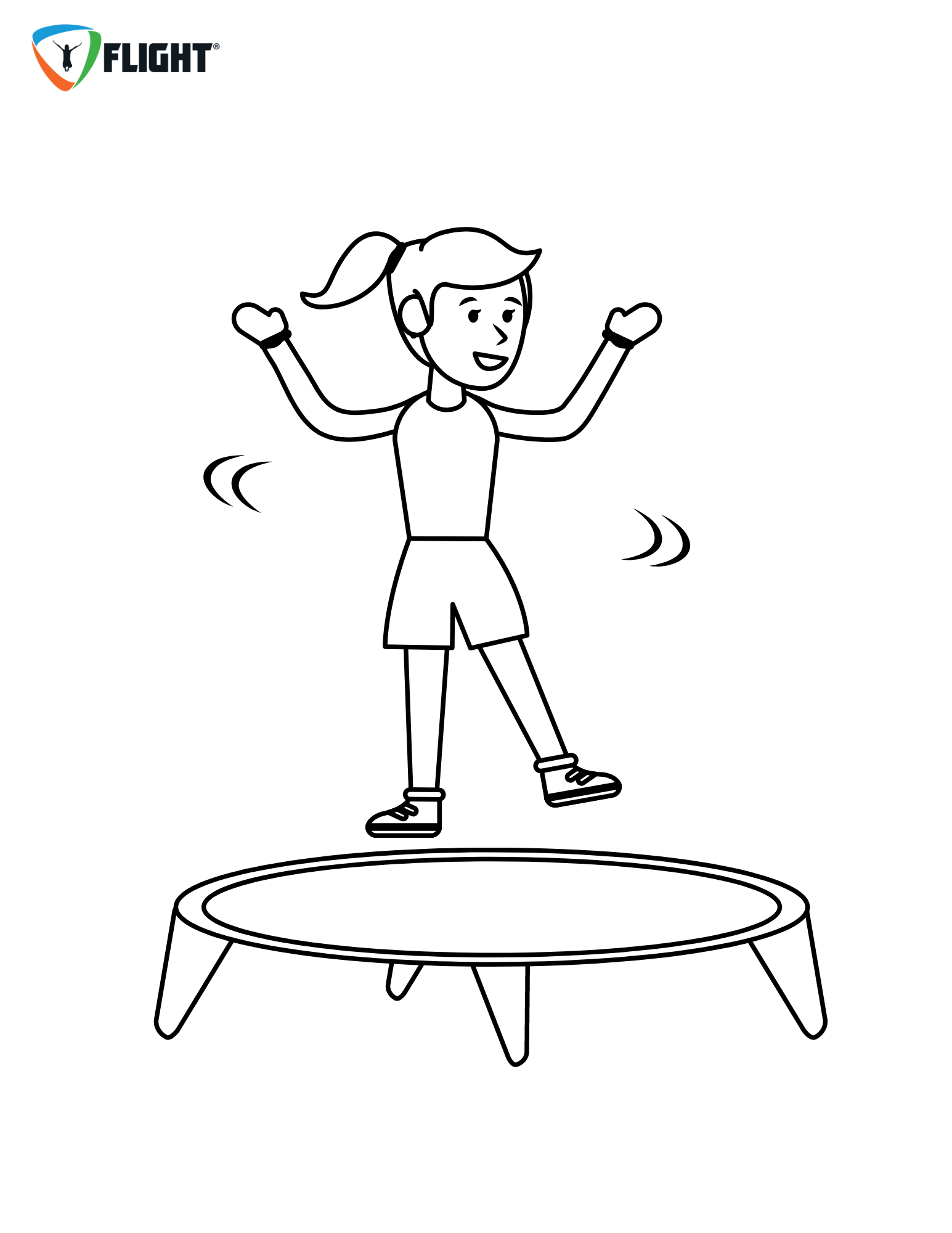 Printable Coloring Pages - Trampoline Park  Trampoline