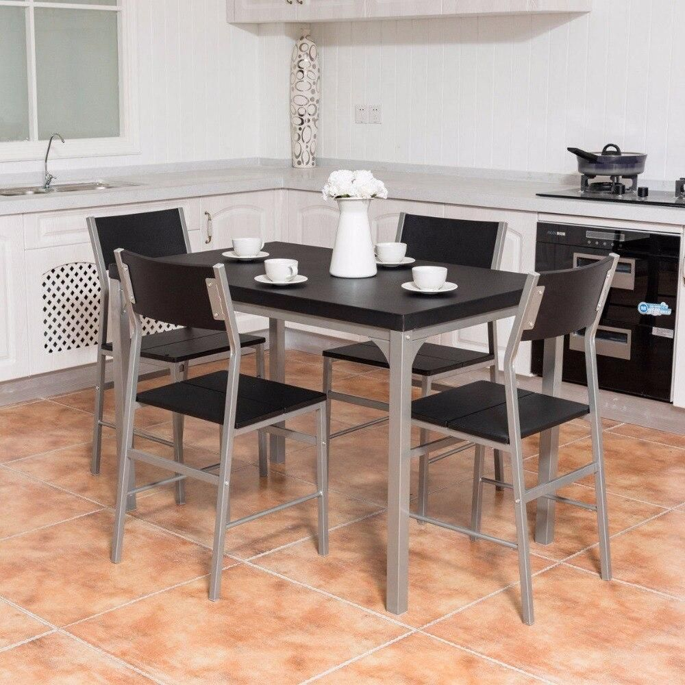 Best Spina 5 Piece Dining Set Dining Table Chairs Metal 400 x 300