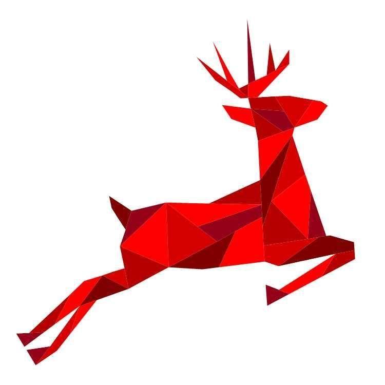 Geometric Reindeer Paper Pieced Pattern | Weihnachten nähen ...