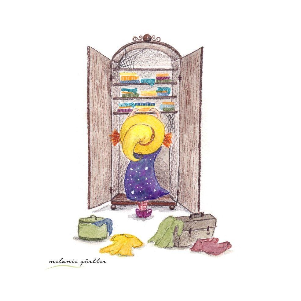Kleine Hexe Aquarell Kinderbuch Melanie Gurtler Illustration