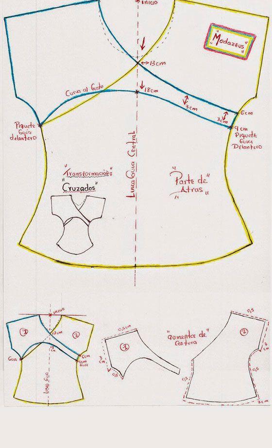patrones de blusas modernos | Costura | Pinterest | Patterns