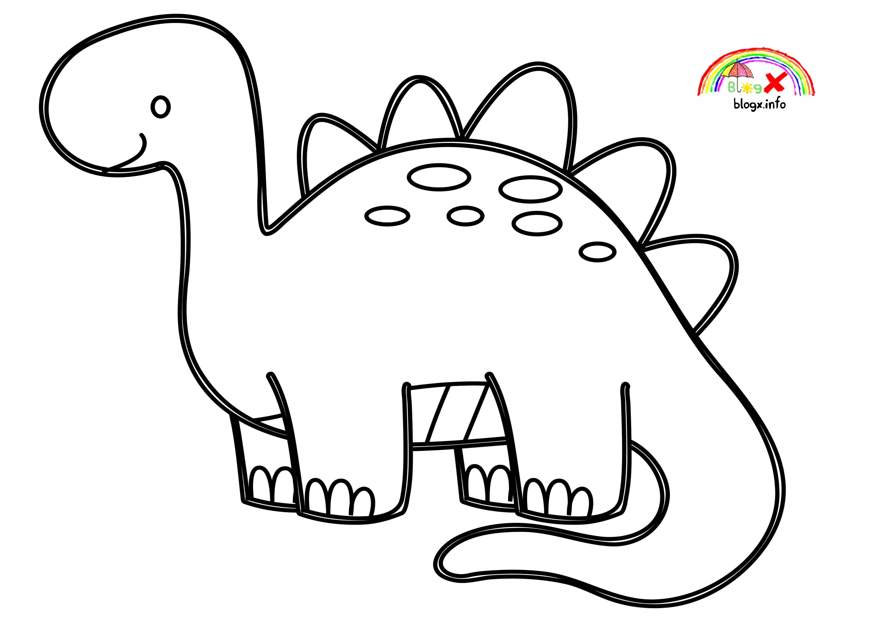 Easy Dinosaurs Coloring Page For Kids Preschool Dinosaur Coloring Pages Dinosaur Coloring Coloring Pages
