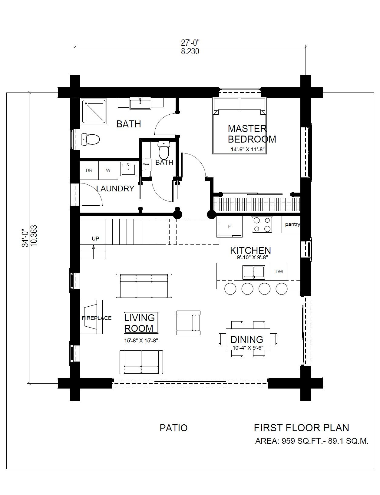 A Log Cabin Plan Very Similar To The Original Horseshoe Bay Log Cabin This Variation Shows How A Few Changes Ca Cabin Floor Plans Floor Plans Log Cabin Plans