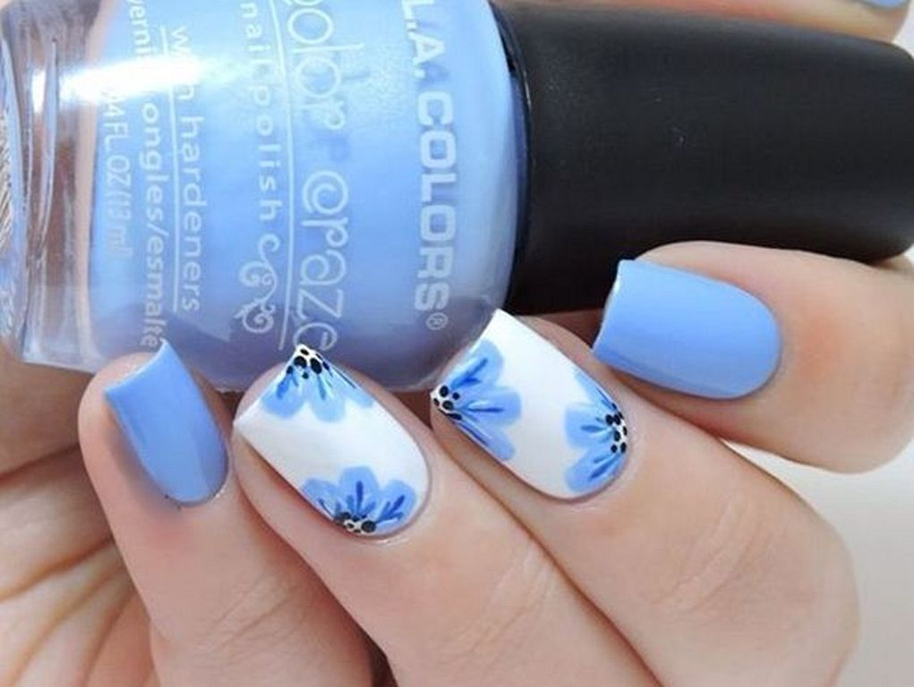 20 2017 Gorgeous Blue Nail Art Designs For Summer Nails