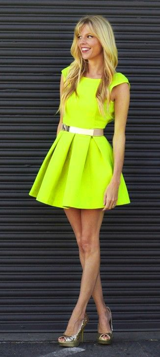 Fluorescent Yellow Neon Dress | Fluorescent Yellow Neon ...