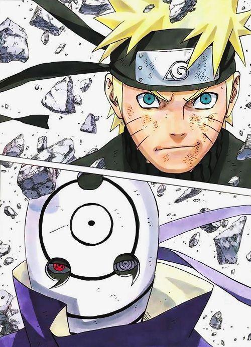 Uzumaki Naruto Vs Uchiha Obito I Won T Give Up I Ll Be Hokage That S My Dream Anime Naruto Naruto Uzumaki