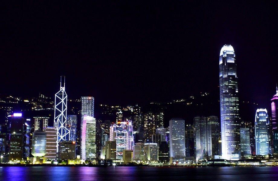 Hong Kong Skyline 4k Ultra Hd Wallpaper 4k Wallpaper Net Pemandangan Pemandangan Anime