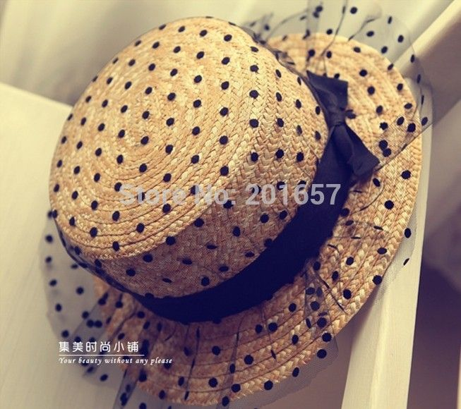 Boater Straw Hat Sailor Sun Skimmer Summer Wide Brim
