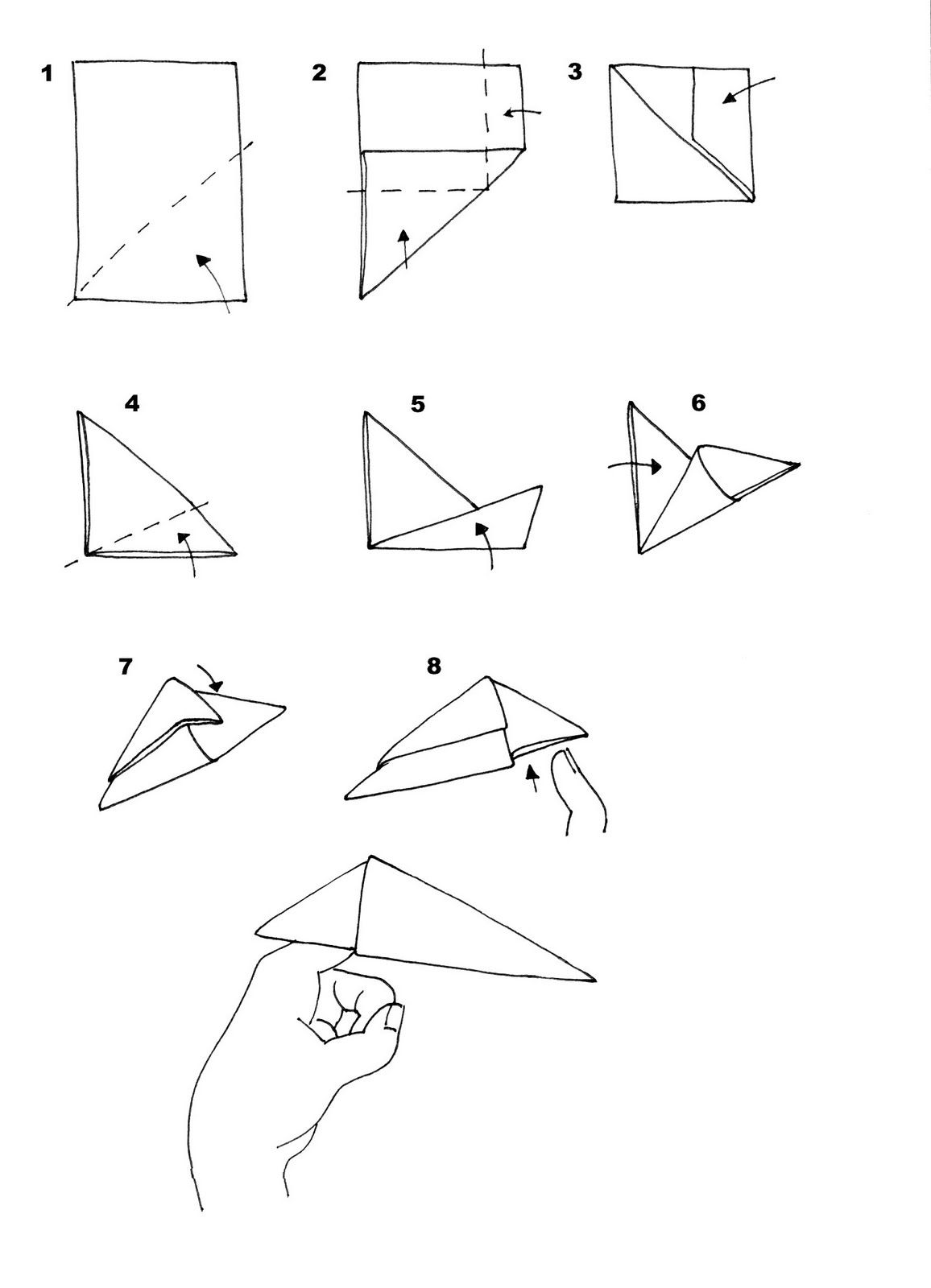 step step making origami -