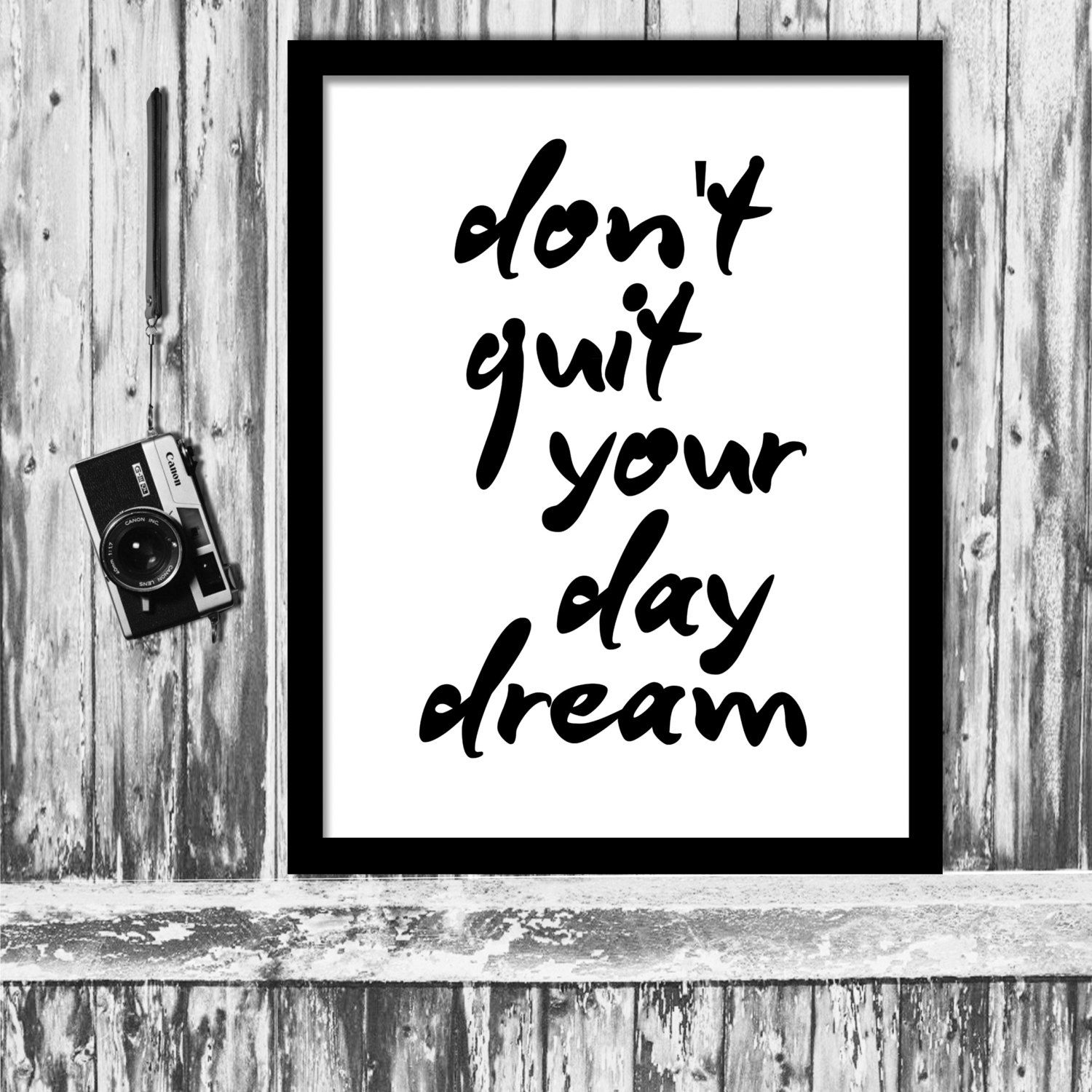 Inspirational quote donut quit your day dream motivational poster