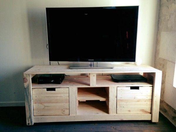 Meuble en palette le guide ultime mis jour 2019 palette pinterest meuble tv palette - Tuto meuble en palette ...