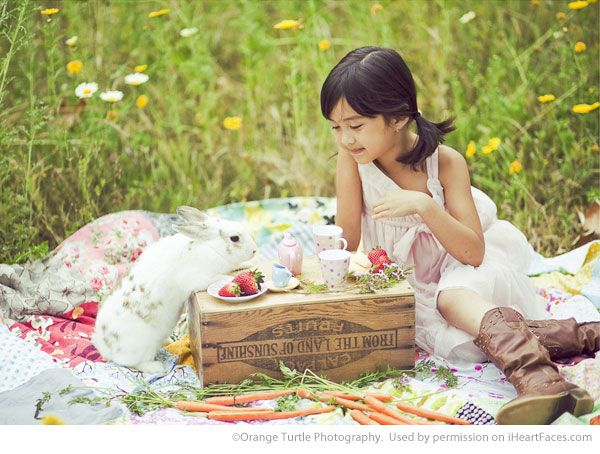 Easter Photo Session Ideas - Children's Portrait Session by Orange Turtle Photography - Featured on I Heart Faces