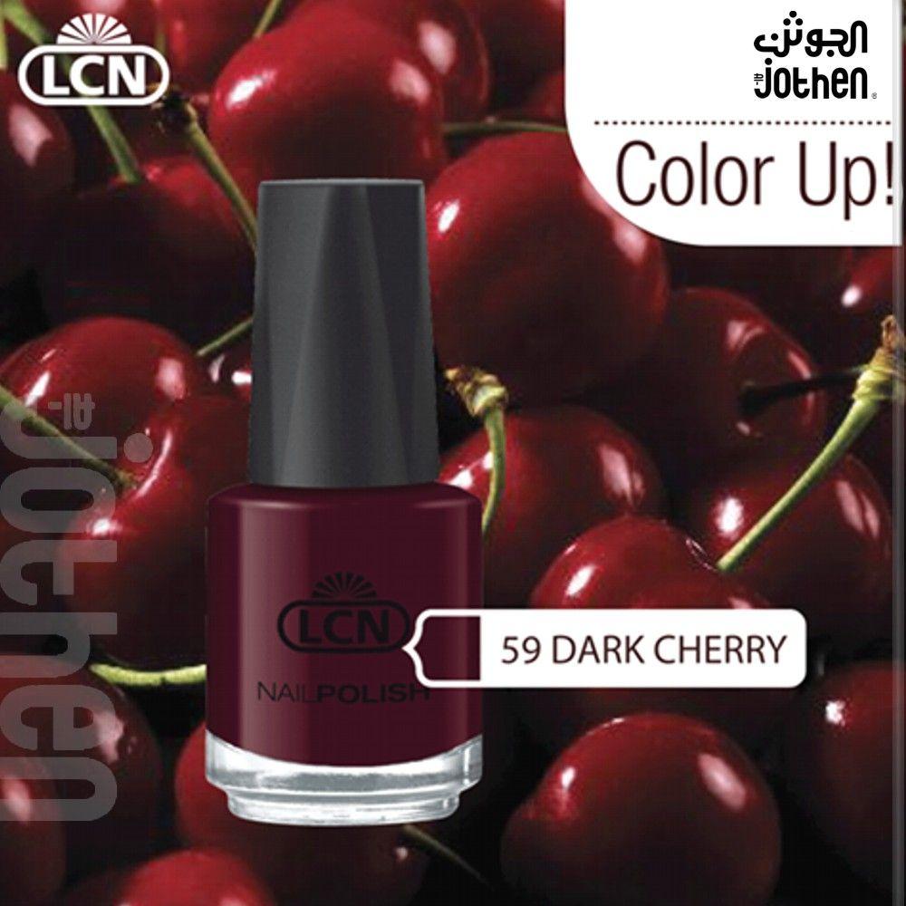 أجمل ظلال الأحمر هذا اللون الكرزي الغامق من أل سي أن دارك تشيري Perfume Bottles Nail Polish Perfume
