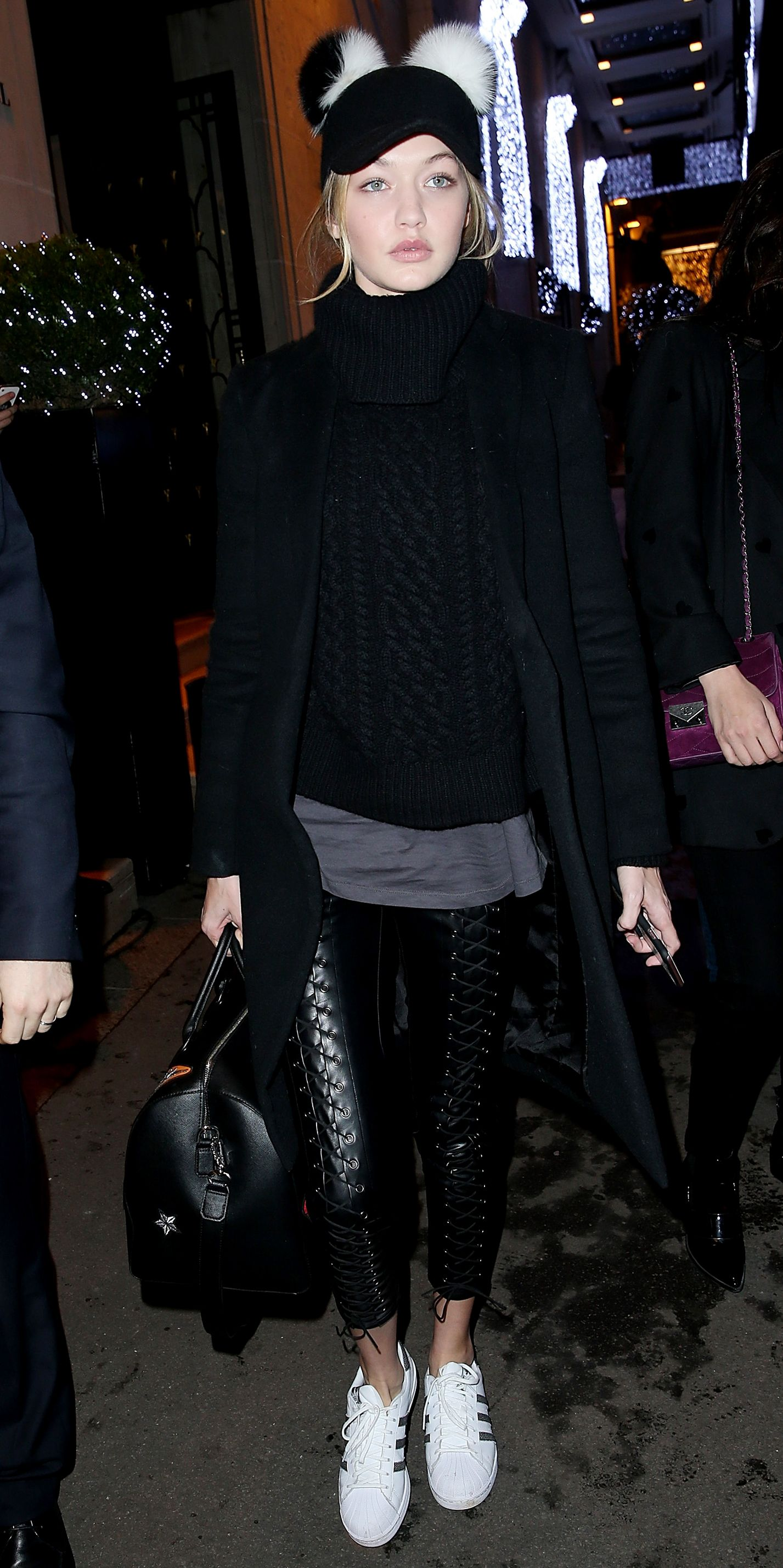 promo code f8aa0 ddaae How to Wear Adidas Superstars Like Kylie Jenner and Gigi Hadid - Gigi Hadid  from InStyle.com