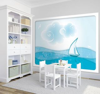 die besten 25 fototapete kinderzimmer ideen auf pinterest kinder fototapete kinder tapete. Black Bedroom Furniture Sets. Home Design Ideas