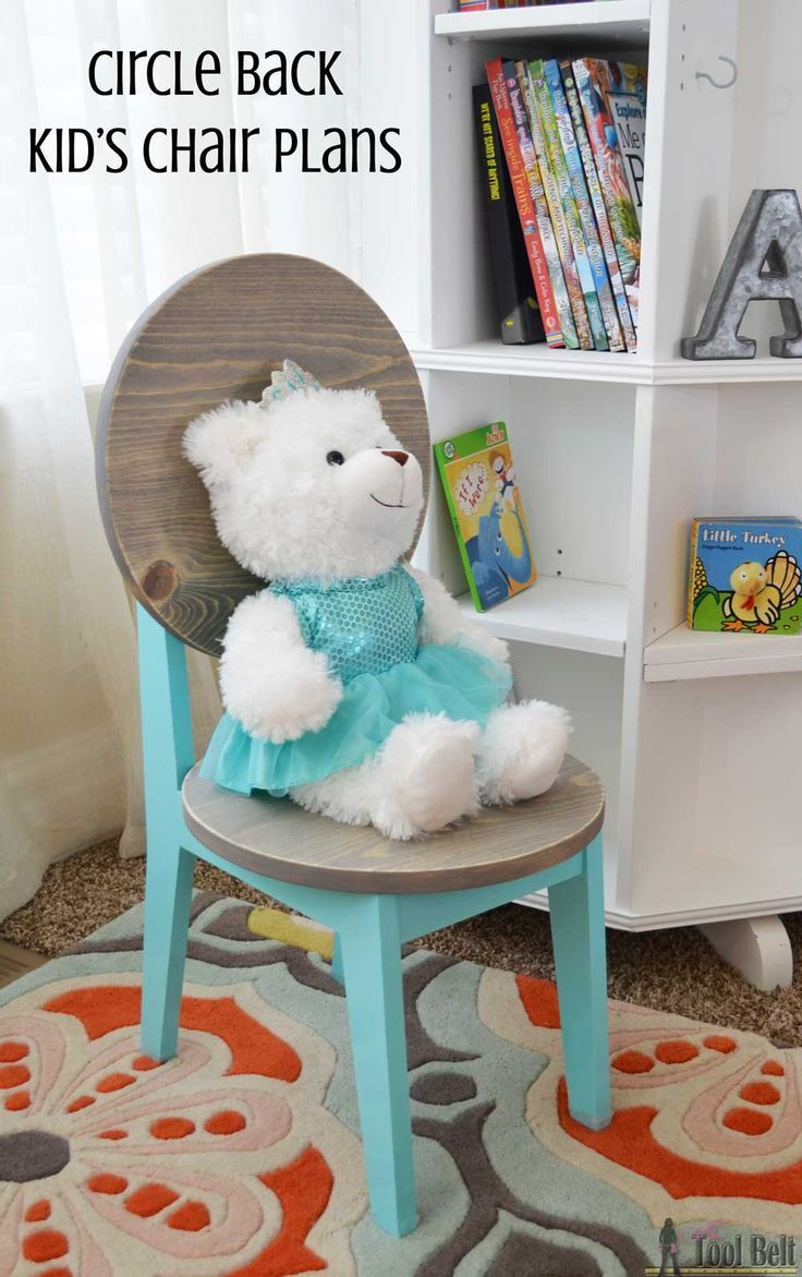 Build this cute little kids chair with one 1x8 board (about $10), perfect for your next tea party! Free plans and tutorial.