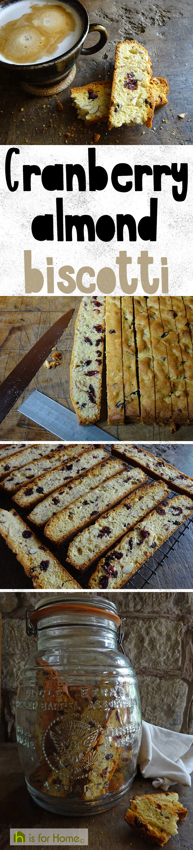 Home-made cranberry almond biscotti | H is for Home #recipe #biscotti #baking #biscuits #ccokery #cooking