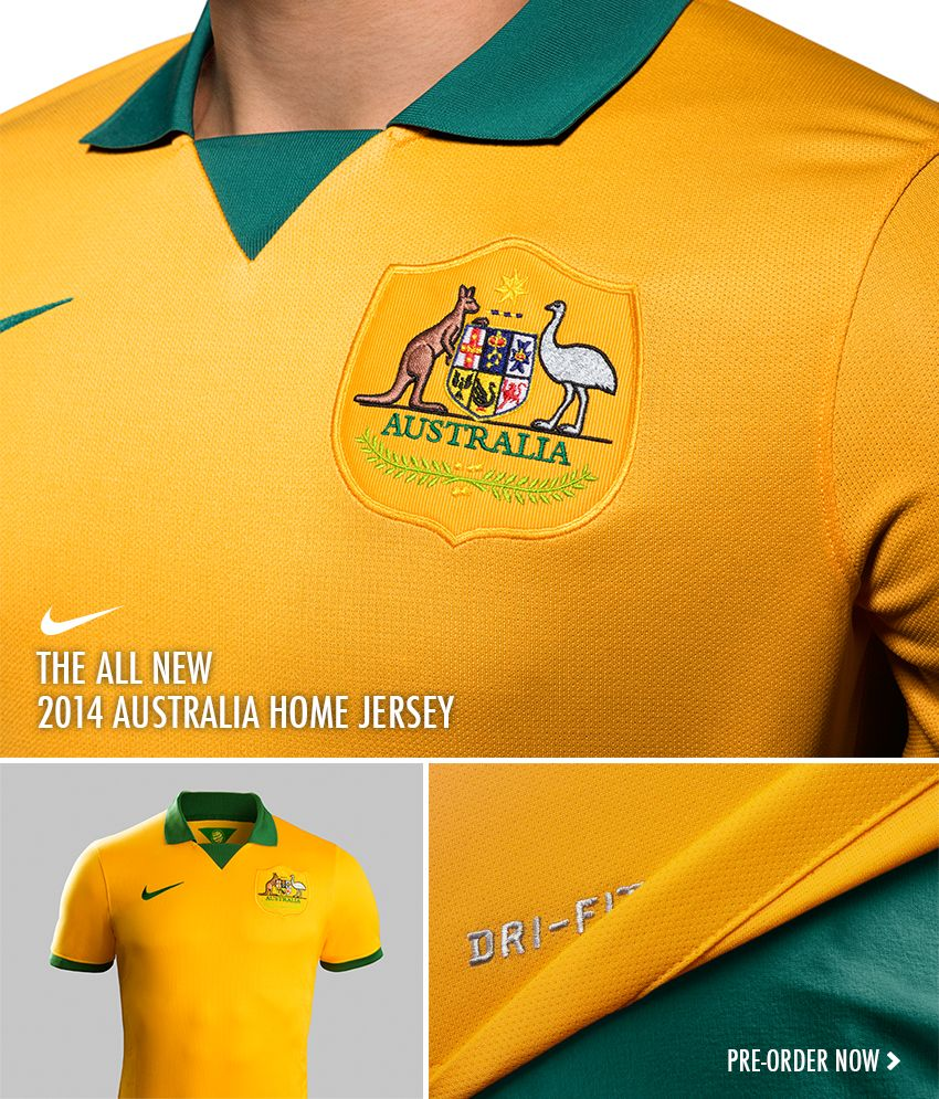 69a6811ad14 Nike Australia 2014 Home Soccer Jersey