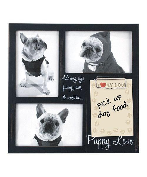 Black 'Puppy Love' Three-Photo Frame/Clip Board by Malden #zulily #zulilyfinds
