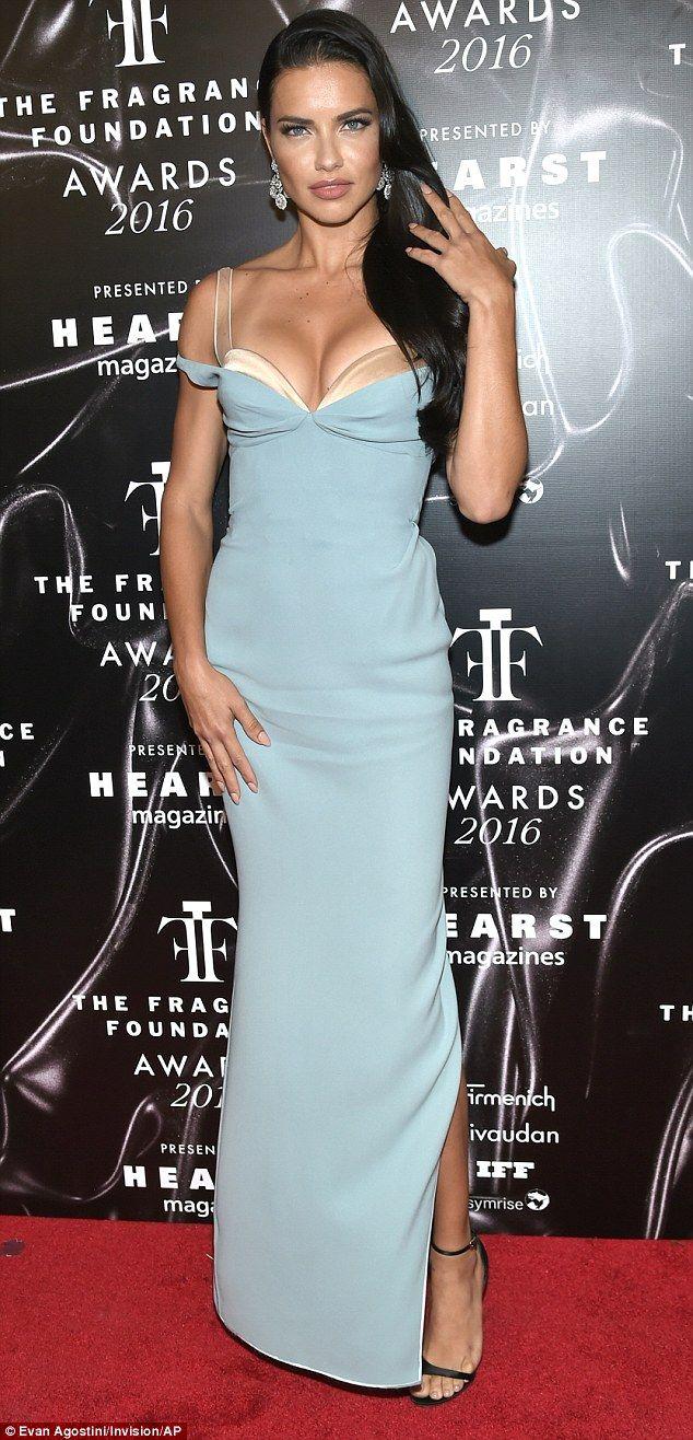 aa48016c1553 Victoria s Secret Angel Adriana Lima vamps it up in daring dress ...
