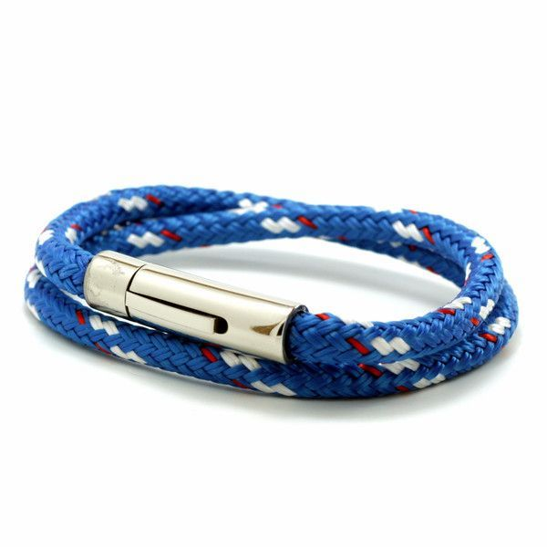 Stainless Steel Clasp on Blue Sta-Set Cord
