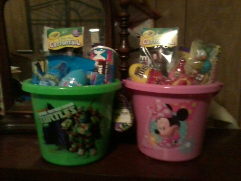 They kids' Easter Baskets 2015... Jamie
