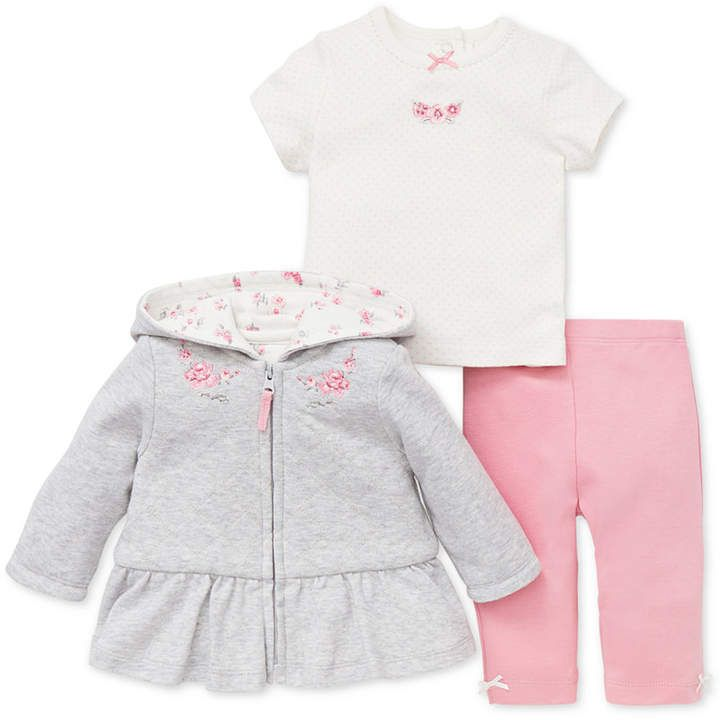 597b92048d4b Little Me Baby Girls 3-Pc. Hooded Jacket