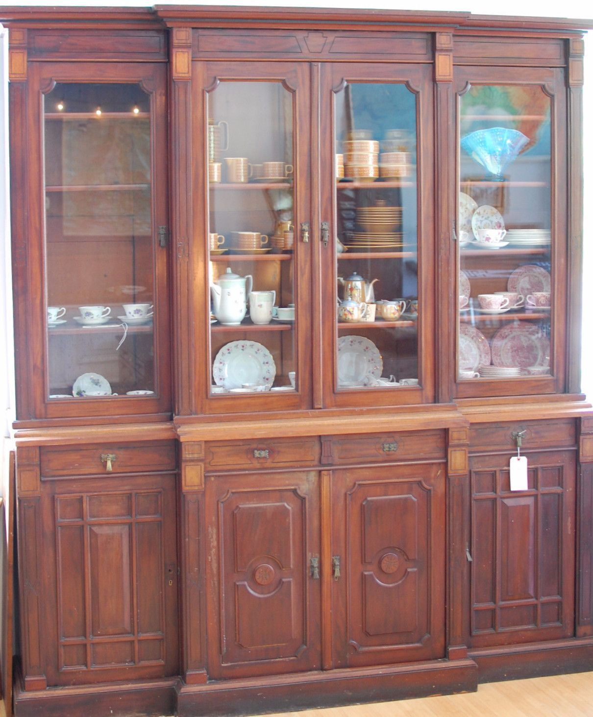 Cheap Antique Furniture For Sale Online: Buy Victorian Breakfront Bookcase At Bloodline Merchants