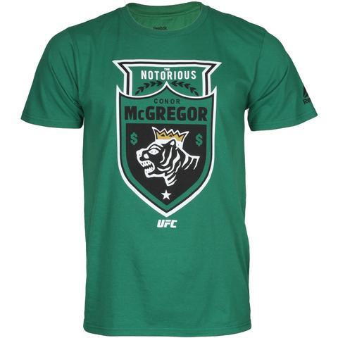REEBOK UFC CONOR MCGREGOR TIGER PROFILE CREST SHIRT 100% Cotton T-Shirt UFC  Logo