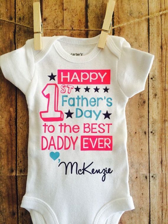 Fathers day gift Girls Fathers Day bodysuit Baby girl first fathers day shirt Preemie fathers day shirt Girls Fathers Day Shirt My First Fathers Day outfit Personalized Fathers Day Shirt