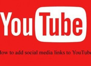 How to add social media links to YouTube?