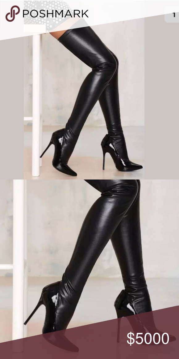 f8d7c2ae9b31 Over The Knee Boots · Things To Sell · ISO not4sale Nasty Gal Closer latex  sock boots Do you have these boots and want to