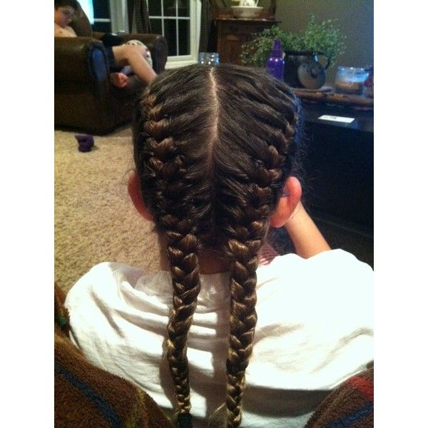 Double French Braid French Braid Swag Pinterest Liked On