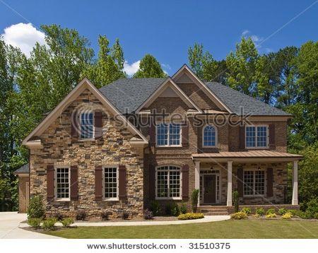 brick stone exteriors homes stone and brick - Luxury Homes Exterior Brick