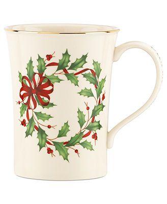 Lenox Dinnerware Holiday Collection Warmest Wishes Mug Deck the Halls  sc 1 st  Pinterest & Lenox Dinnerware Holiday Collection Warmest Wishes Mug Deck the ...