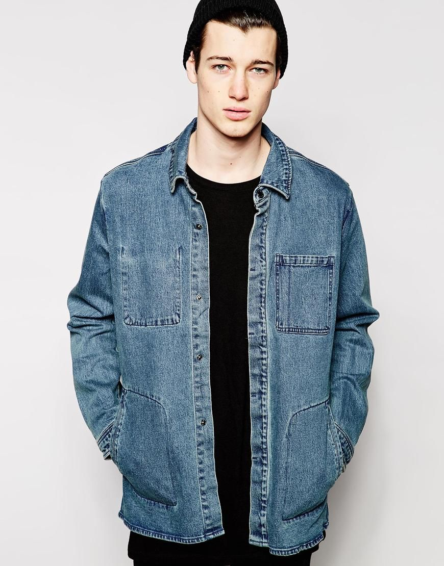 Image 1 of Cheap Monday Denim Jacket Labor Longline Trashed | To ...