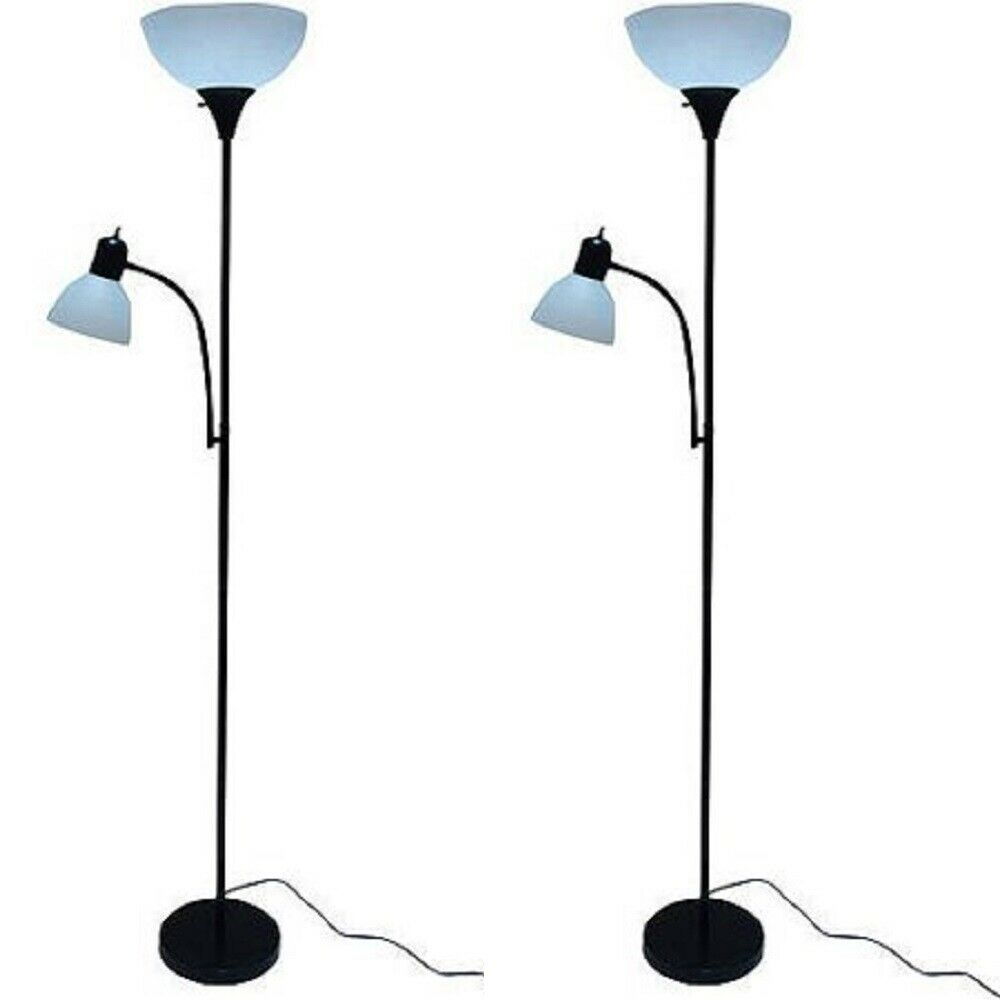 72 Combo Floor Lamps 2 Pack Reading Light Stand Living Room