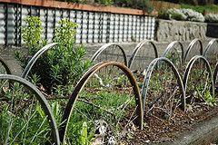 bike garden fence