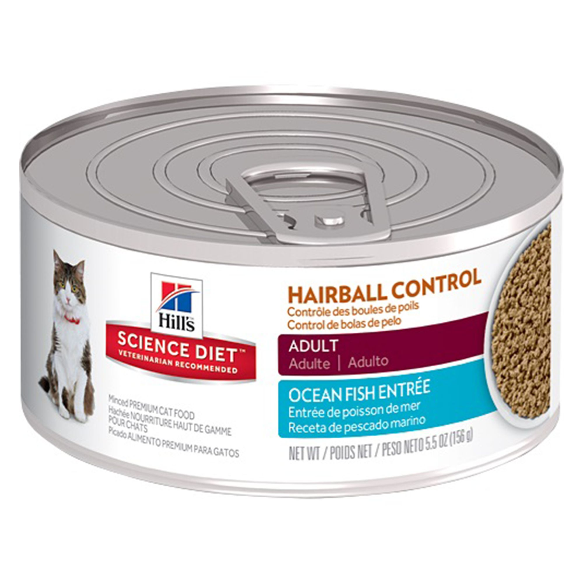 Hill S Science Diet Hairball Control Adult Cat Food Size 5 5 Oz Seafood 1 10 Yrs Water Hills Science Diet Science Diet
