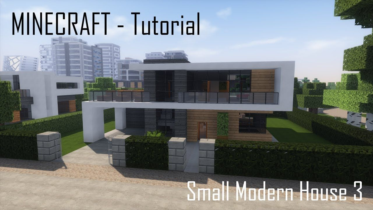 Minecraft Small Modern House 3 Tutorial Exterior