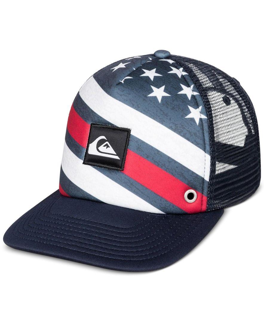 9a763458359 Quiksilver Men s Boardies Graphic-Print Trucker Hat