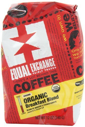 Equal Exchange Organic Coffee, Breakfast Blend, Ground, 12-Ounce Bag - http://teacoffeestore.com/equal-exchange-organic-coffee-breakfast-blend-ground-12-ounce-bag/