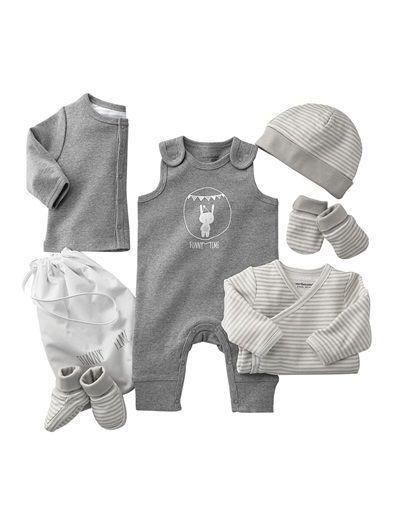 happy price 6 teilige baby erstausstattung helltaupe hellgrau dunkelblau altrosa baby. Black Bedroom Furniture Sets. Home Design Ideas
