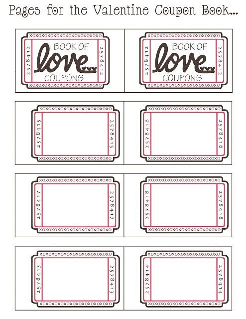 Nice Mommy By Day Crafter By Night: {Free Printable} Valentine Coupon Book Within Free Coupon Book Template