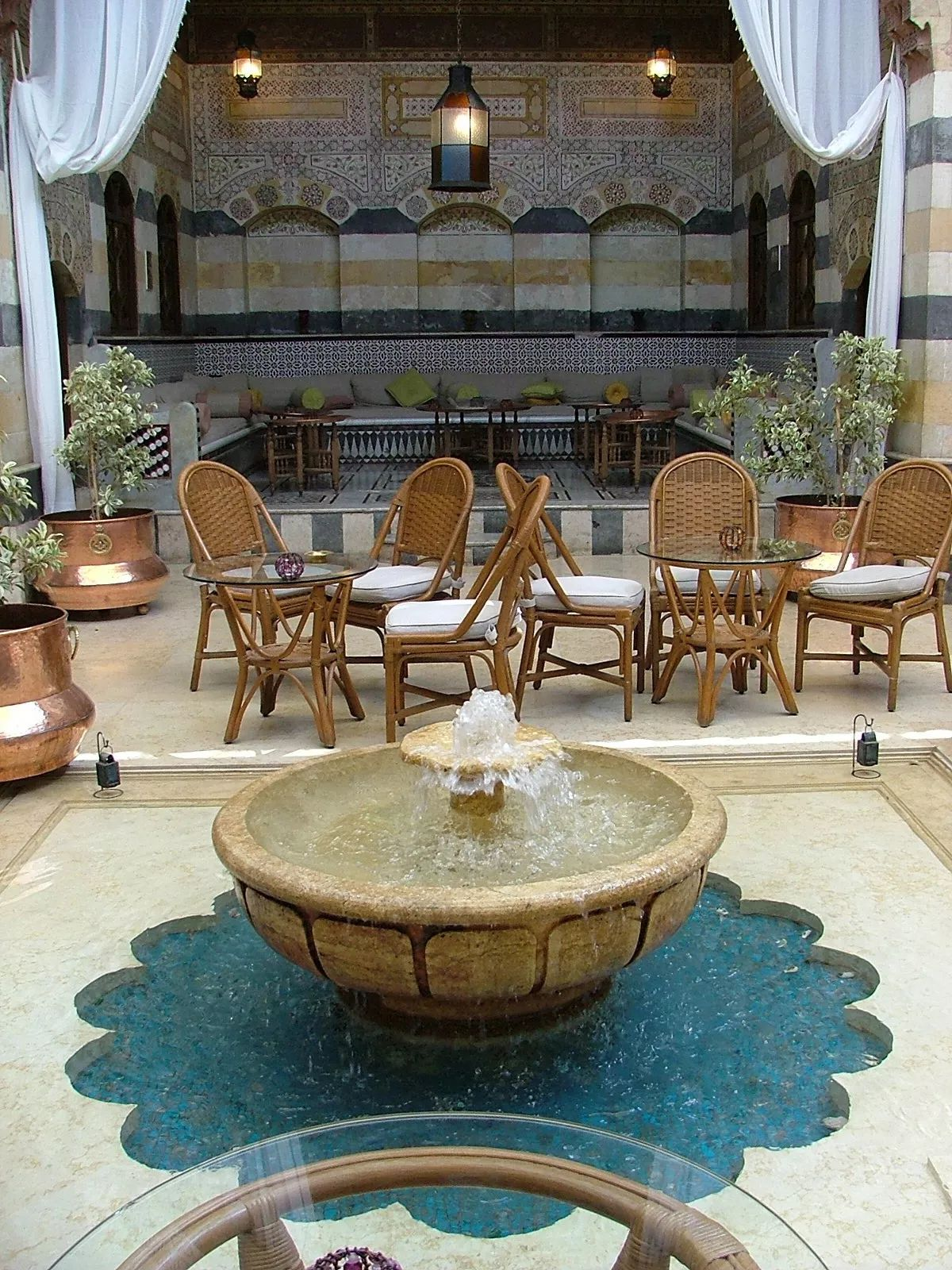 hotel courtyard damascus syria Luxury adventure, Luxury