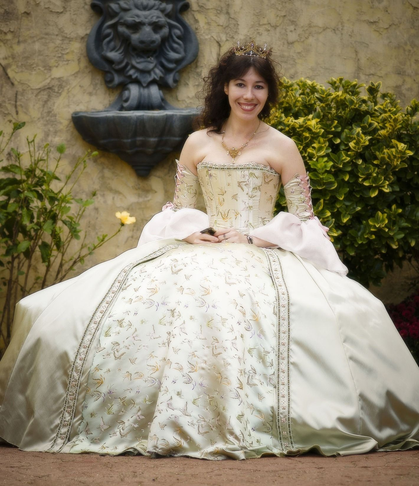 Fairytale wedding corseted gown custom made in size u fabrics