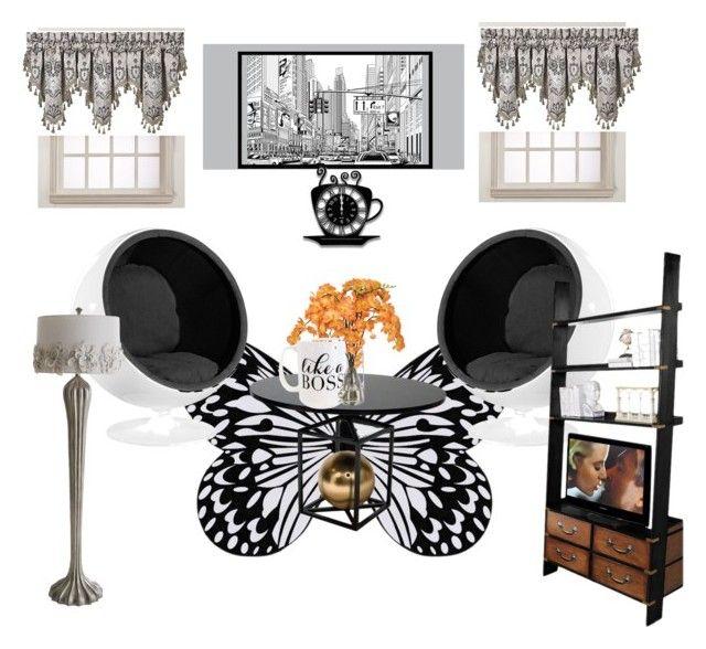 """Conley_esperanzaj"" by conley-esperanzaj on Polyvore featuring interior, interiors, interior design, home, home decor, interior decorating, Visionnaire, J. Queen New York, Ethan Allen and Authentic Models"