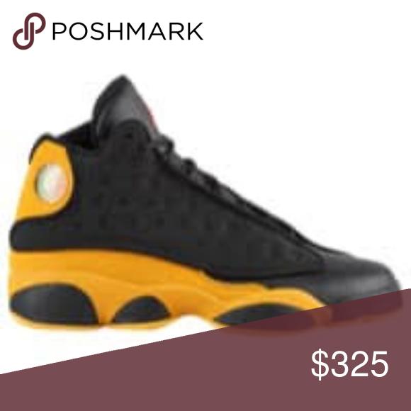 free shipping 1403e cb37e Jordan Retro 13 Black and Yellow Size 14 Brand New in the ...